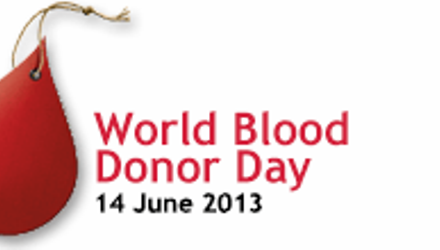 14 giugno 2013 – Giornata Mondiale del donatore di sangue