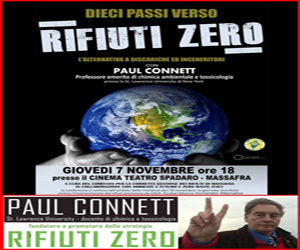 """10 passi verso rifiuti zero"" – Paul Connett a Massafra"