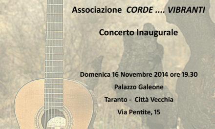 """""""Corde… vibranti"""" – Concerto inaugurale"""