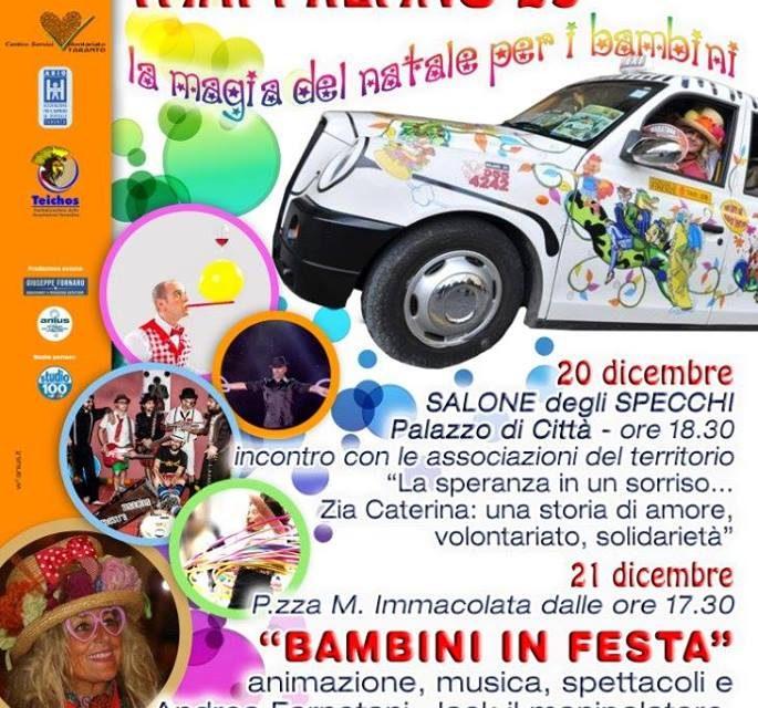Il messaggio di Zia Caterina anche a Taranto il 20 e 21 dicembre