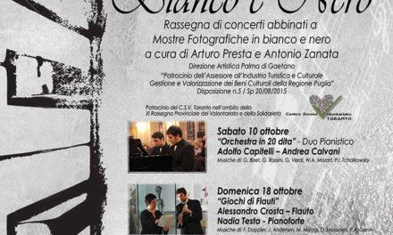 """""""ArmoniE in Bianco e Nero"""", ultimo appuntamento"""
