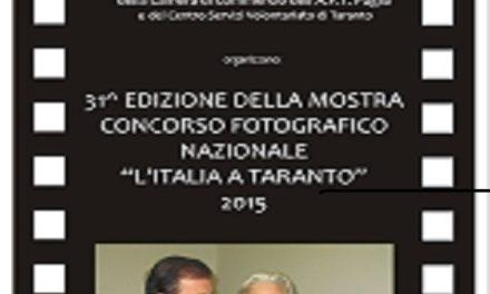 """""""L'Italia a Taranto"""", domani la premiazione della 31^ edizione"""
