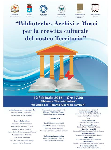 """Associazione """"Marco Motolese"""" e Club Unesco inaugurano l'anno sociale 2016"""