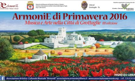 """Musica e Arte nella città di Grottaglie con """"Armonie di Primavera 2016"""""""