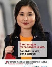 14 giugno: Giornata Mondiale del donatore di sangue