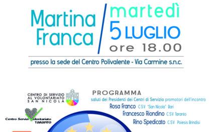 A Martina Franca un incontro su Fondi Europei e POR Puglia 2014 – 2020