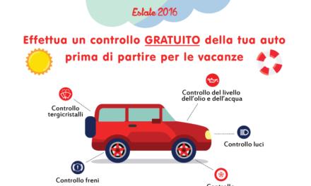 """""""Parti Sicuro"""", check-up gratuito per il proprio veicolo"""