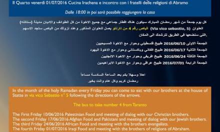 """""""La Tenda di Abramo"""", dialogo interreligioso e cucina multietnica per una migliore integrazione sociale"""