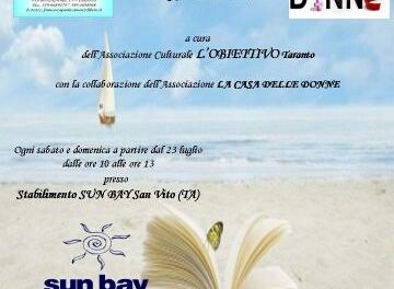 """""""All'ombra di un libro"""" – Biblioteca sulla spiaggia"""