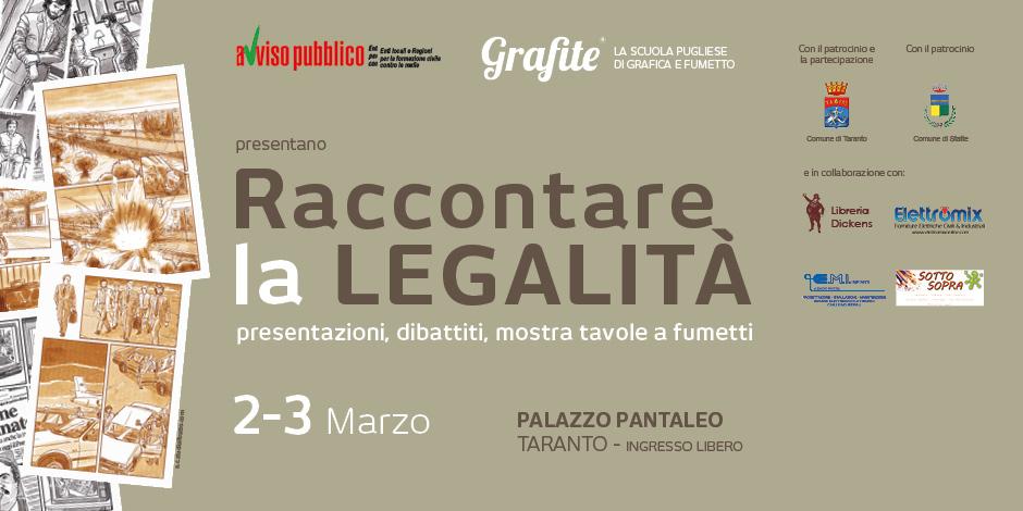 RACCONTARE LA LEGALITÀ, IL 2-3 MARZO A TARANTO