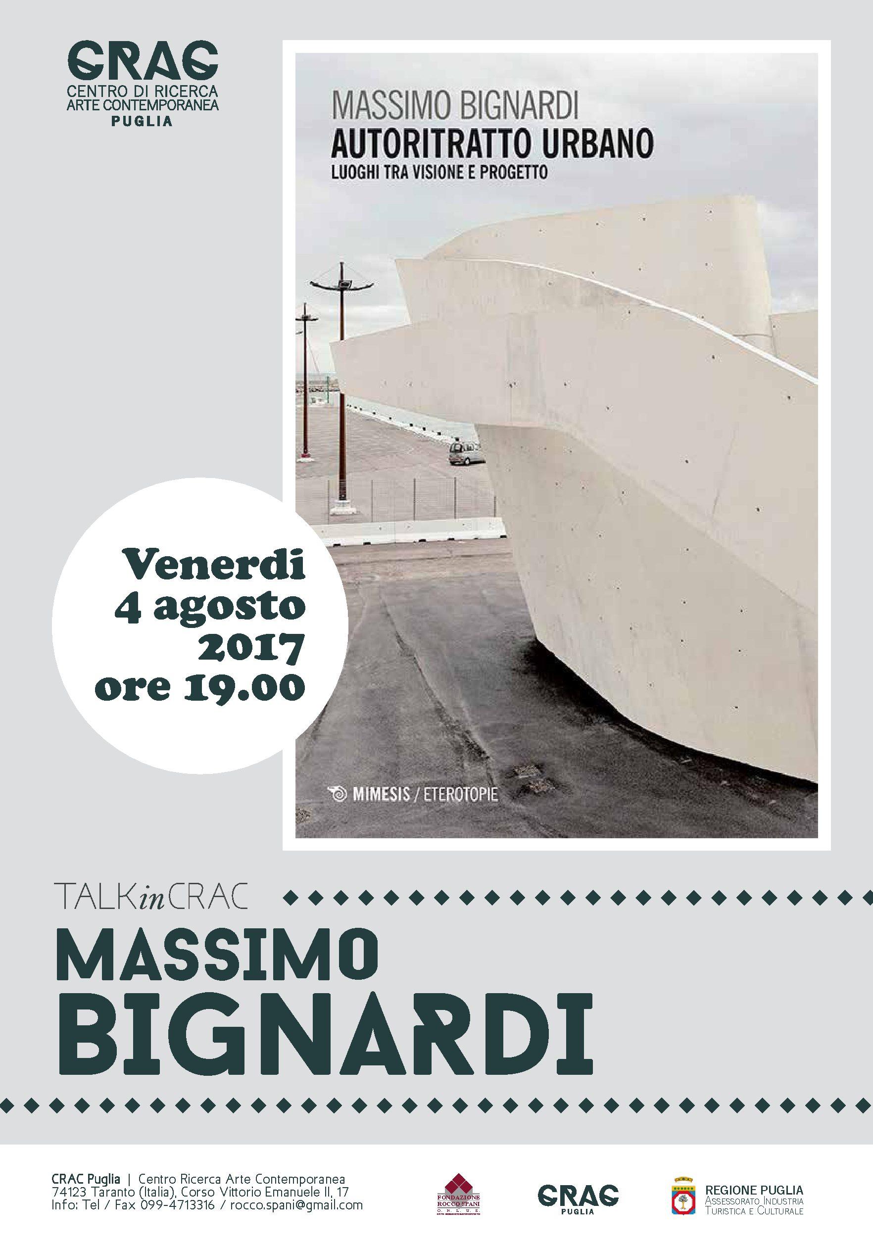 Massimo Bignardi ospite del Crac-Puglia