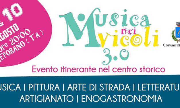"""A Leporano torna e raddoppia """"Musica nei vicoli 3.0"""""""
