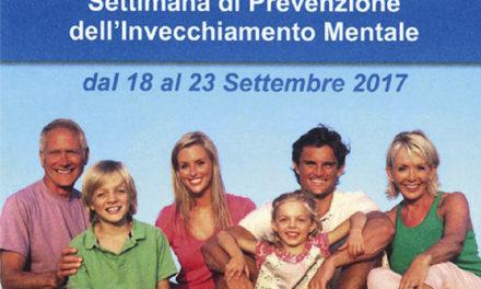 """18 e 20 settembre: anche a Martina Franca la """"Settimana della prevenzione dell'invecchiamento mentale"""""""