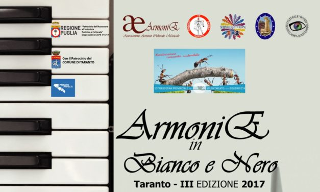 """""""Armonie in Bianco e Nero"""", il 21 ottobre il secondo appuntamento"""