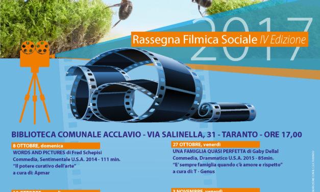 Continua la Rassegna Filmica Sociale, terzo appuntamento