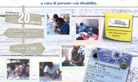 """""""OFFICINA DEI GIOCHI"""", a Taranto la prima produzione di giochi montessoriani a cura di giovani adulti con disabilità"""