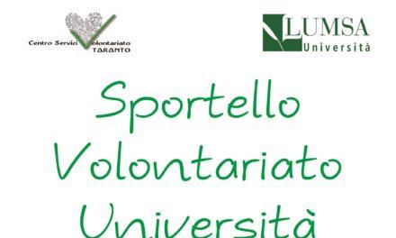 Volontariato – Università: primo appuntamento dello Sportello il 23 novembre