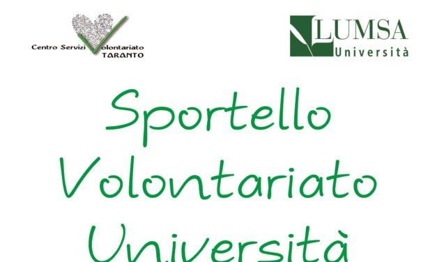 Prende il via lo Sportello Volontariato – Università alla LUMSA