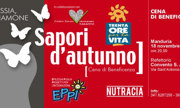 Sapori d'autunno a Manduria: una rete di associazioni in collaborazione con il CSV per l'epilessia