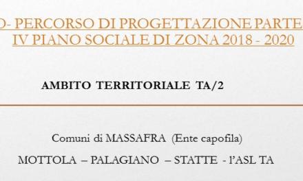 Avviso – Percorso di progettazione partecipata IV Piano Sociale di Zona 2018-2020