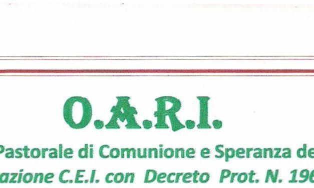 """Con l' O.A.R.I.  in un cammino di speranza """"con e tra"""" gli infermi – Seminario formativo e informativo"""
