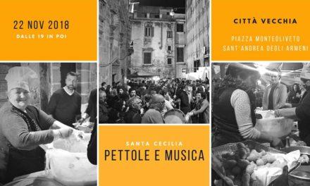 Santa Cecilia con pettole e musica nel cuore della città vecchia di Taranto