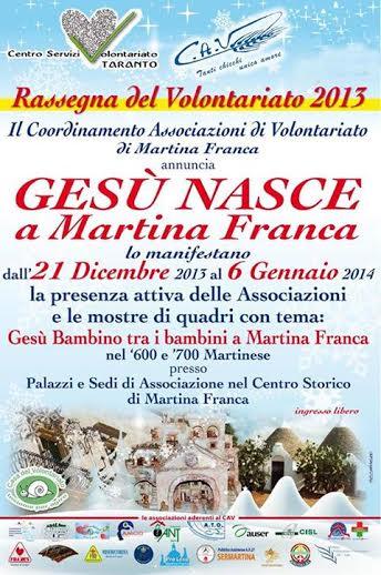 Calendario Eventi Martina Franca.Gesu Nasce A Martina Franca Evento Conclusivo Csv Taranto
