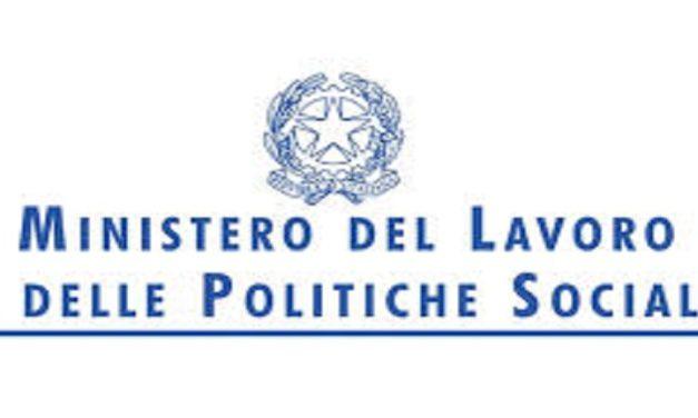 Atto di indirizzo 2019 del Ministero del Lavoro e delle Politiche sociali 2019