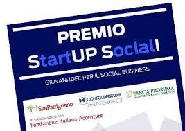 """Premio """"Start up sociali""""  – Giovani idee per il social business"""