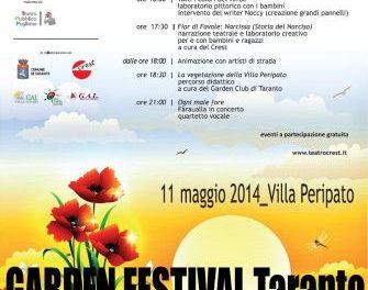 Garden Festival Taranto per riscoprire la Villa Peripato