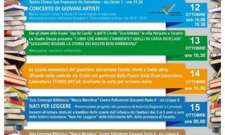 Prende avvio la settimana di BiblioPride 2014 a Taranto