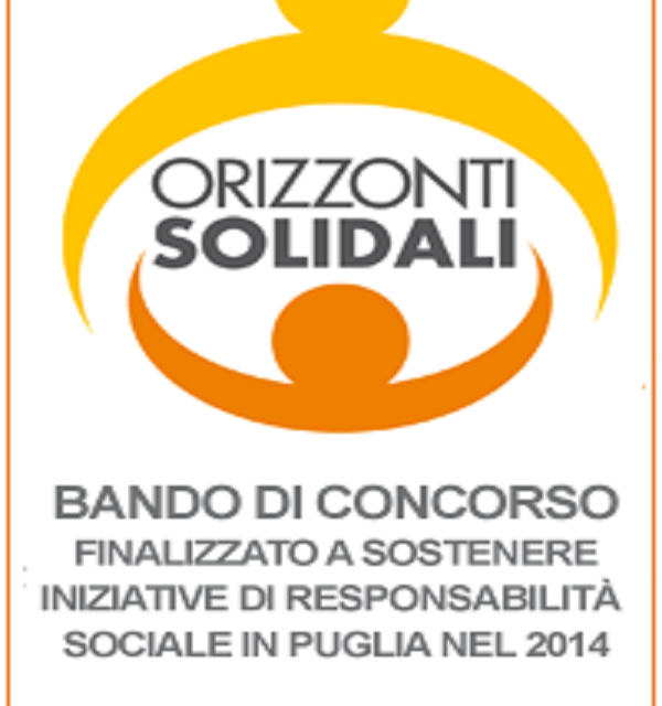 """Bando di concorso """"Orizzonti Solidali"""" 2014"""
