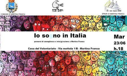"""""""io so(g)no in Italia: percorsi di accoglienza e integrazione nella città di Martina Franca"""""""