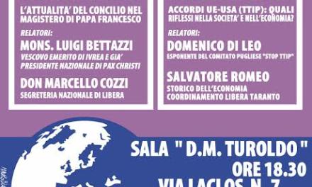 """Gli """"Incontri della Pace"""" 31^ edizione, secondo appuntamento"""