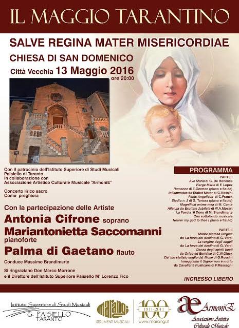 """La PREGHIERA nella Musica Sacra e Operistica, protagonista del """"Maggio Tarantino"""""""
