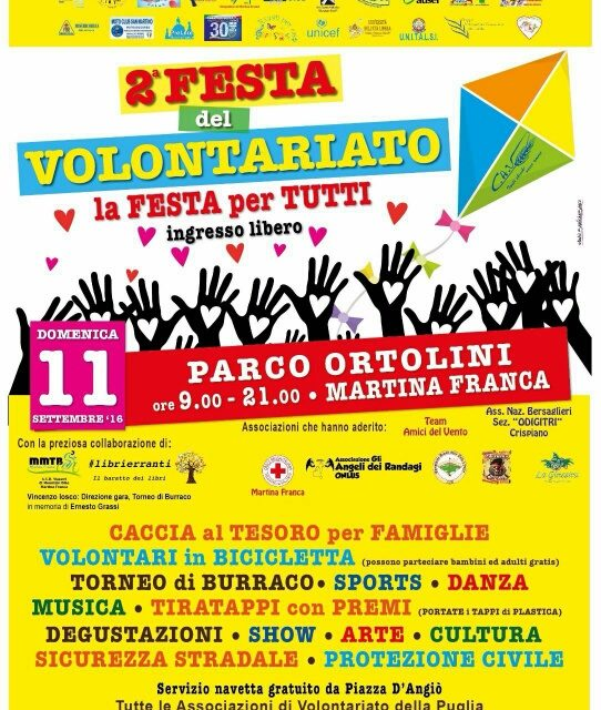 """""""2^ Festa del Volontariato""""…la festa per tutti"""