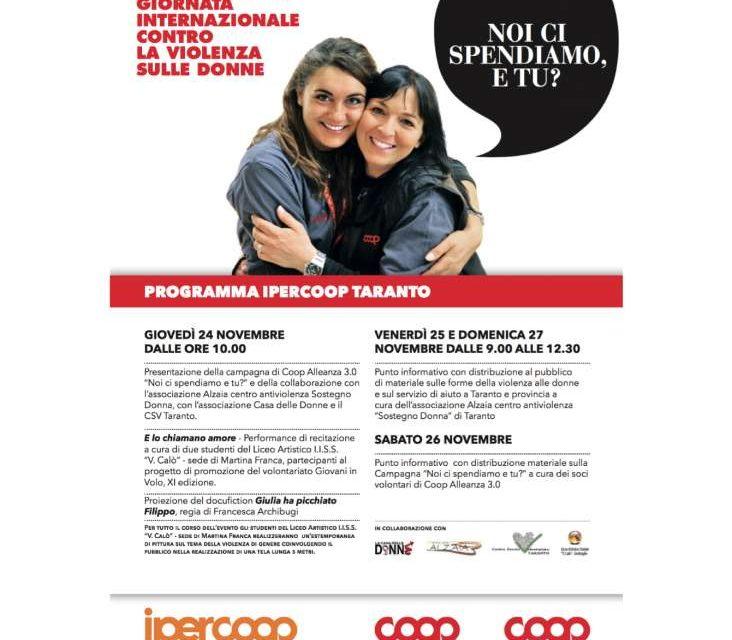 """""""Noi ci spendiamo, e tu?"""", la campagna di Coop Alleanza 3.0 contro la violenza sulle donne"""
