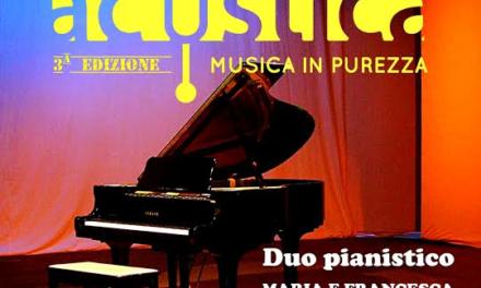 A Manduria per Acustica il pianoforte a quattro mani del duo Musti