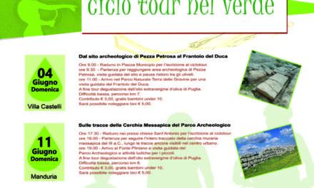 """Arriva a Manduria la seconda delle tre tappe di """"ArcheOlio – Ciclotour nel verde""""."""