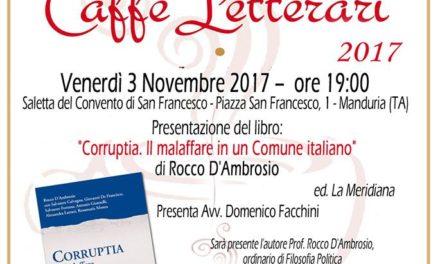 """""""Corruptia. Il malaffare in un Comune italiano"""", presentazione del libro di Rocco D'Ambrosio"""