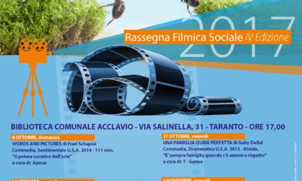 IV edizione della Rassegna Filmica Sociale