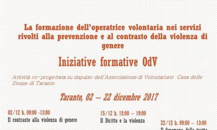 La formazione dell'operatrice volontaria nei servizi rivolti alla prevenzione e al contrasto alla violenza di genere