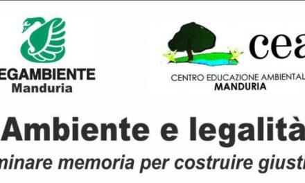 """Incontro pubblico """"Ambiente e legalità: seminare memoria per costruire giustizia"""""""