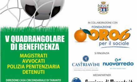"""Progetto """"Fuori…gioco"""" – V Quadrangolare di beneficenza"""