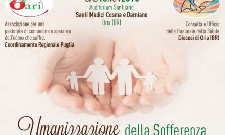 """10 novembre """"Umanizzazione della Sofferenza"""", seminario dell' Oari"""