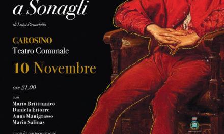 """A Carosino """"Il berretto a sonagli"""" di Pirandello"""