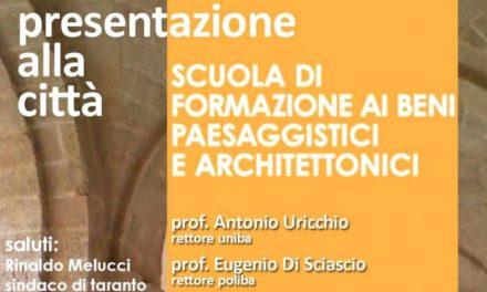 """""""Scuola di Specializzazione per i Beni Architettonici e Paesaggistici"""", la presentazione a Taranto"""