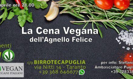 """""""La cena vegana dell' Agnello Felice"""""""