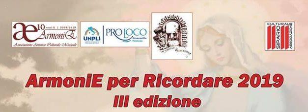 """""""ArmoniE per Ricordare 2019"""" – III Edizione, in ricordo di San Massimiliano Kolbe"""