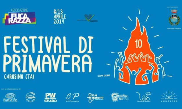 """Sabato 27 aprile a Carosino il """"Festival di Primavera"""" di Fucarazza"""